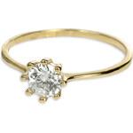 Brilio Zlatý zásnubní prsten s krystalem 226 001 00934