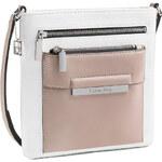 Calvin Klein Elegantní crossbody kabelka Valerie Triple Zip Flat Pack bílá multi