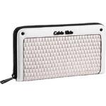 Calvin Klein Elegantní peněženka Sophia Weave Zip Continental Wallet bílá multi