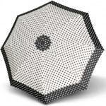 Doppler Dámský skládací plně automatický deštník Hit Magic Punti - černobílý 7440265PU04