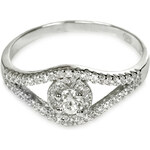 Troli Stříbrný prsten s krystaly 426 158 00077