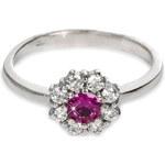 Troli Stříbrný prsten s krystaly 426 001 00432 04 - růžový