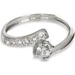 Troli Stříbrný prsten s krystaly 426 001 00435 04