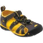 KEEN Junior sandály Seacamp II CNX Raven/Yellow