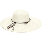 Art of Polo Dámský letní klobouk s korálky - bílý cz16115.1