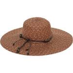 Art of Polo Dámský letní klobouk s korálky - hnědý cz16115.2