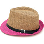 Art of Polo Letní klobouk dvoubarevný - béžovorůžový cz15160.12