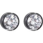Preciosa Stříbrné náušnice s velkým krystalem Brilliant Star černé 5196 40