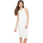 Forever 21 Dámské šaty Knit Bodycon Dress-bílá