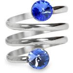 Levien Prsten Spiral Rivoli Light Sapphire & Sapphire
