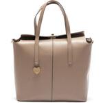 Mangotti Elegantní kožená kabelka 387 Fango