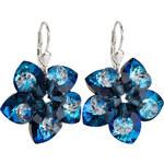 Evolution Group Náušnice květiny 31130.5 bermuda blue