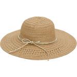 Art of Polo Dámský světlehnědý letní klobouk se zlatou mašlí cz16109.3