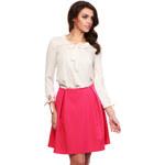 Lecharme Elegantní růžová sukně 315