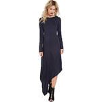 Forever 21 Dámské šaty Contemporary Asymmetric - modré
