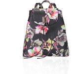 LYDC LONDON Černo-růžový batoh LYDC Flora