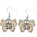 Náušnice motýlci etno styl s ornamenty