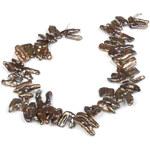 JwL Jewellery Náhrdelník z pravých hnědokovových keshi perel JL0045