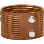 Wildskin Kožený náramek Stripes Brown