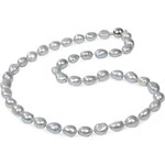 JwL Jewellery Náhrdelník z šedostříbrných perel JL0067