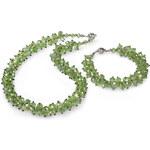 JwL Jewellery Set náhrdelník s náramkem zelený JL0068