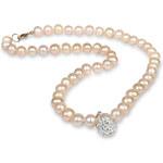 JwL Jewellery Náhrdelník z pravých perel lososové barvy JL0085