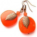 Výrazné pomerančové náušnice