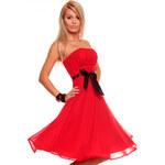 Luxusní červené šaty na ples