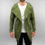 Just Rhyse Pánská seříznutá mikina - khaki, Barva Army zelená, Velikost S
