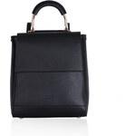 LYDC LONDON Elegantní černý batoh LYDC