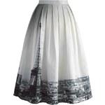 Sukně Chicwish Eiffel Tower Midi S