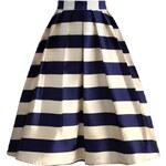 Sukně Chicwish Marine Blue Stripe Midi S