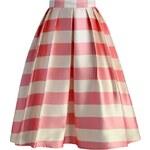 Sukně Chicwish Candy Pink Stripe Midi S