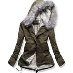 Dámská zimní bunda Feathers šedá - šedá