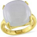 KLENOTA Pozlacený prsten s chalcedonem