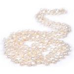 JwL Jewellery Dlouhý perlový náhrdelník z pravých bílých perel JL0008