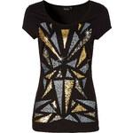 BODYFLIRT Shirt kurzer Arm in schwarz (Rundhals) für Damen von bonprix