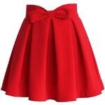 CHICWISH Dámská sukně Ruby červená Velikost: M