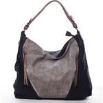 Dudlin Luxusní kabelka přes rameno Francesca, černo-šedá