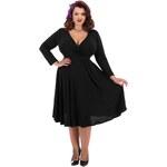 Šaty Lady V London Long Sleeved Lyra Black -