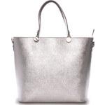 Dámská kožená kabelka stříbrná - ItalY Elza stříbrná