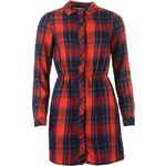 Only Samponi Shirt Dress, red/navy