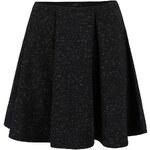 Černá žíhaná rozšířená sukně VILA Amera