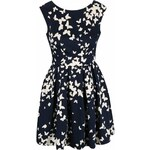 Tmavě modré šaty s motýlky a mašlí na zádech Closet