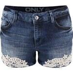 Tmavě modré džínové kraťasy ONLY Ultimate