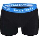 Černé boxerky s modrým lemem Jack & Jones Color Donk