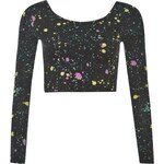 Abandon Ship Long Sleeved Crop Top Ladies, splatter