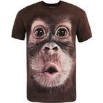 Unisex triko The Mountain Big Face Baby Orangutan