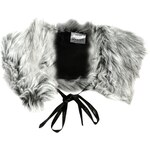 Rock and Rags Faux Fur Shrug, silver tonal