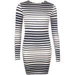 Rock and Rags Ripple Stripe Dress, white/navy